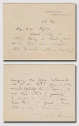 Barrie James M. 1860-1937 - Autograph Letter Signed With Peter Pan Reference