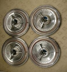C3 - 1965 Ford Thunderbird Oem T-bird 15 Hubcaps Wheel Covers Set Of 4
