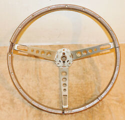 1965 1966 Mustang Coupe Gt Fastback Shelby Gt350 Orig Deluxe Wood Steering Wheel