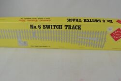 Aristocraft G Scale Stainless Steel No.6 Left Hand Switch Track, Unused-boxed