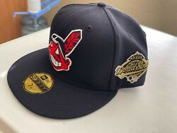 Cleveland Indians Cle Mlb Authentic New Era 59fifty Fitted Cap - With Pin Wahoo