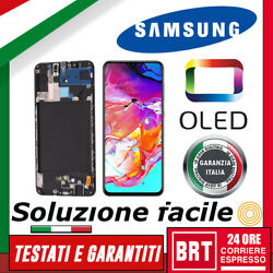 Display Lcd+touch Screen+frame Ss Oled Samsung Galaxy A70 Sm-a705f Vetro 24h