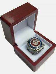 2016 Chicago Cubs Ring And Wooden Display Box World Series Championship Zobrist