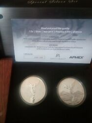 Mexico Mint 2015 Apmex Silver Libertad 2 Coin Special Issue Set ,. Rare Sold Out