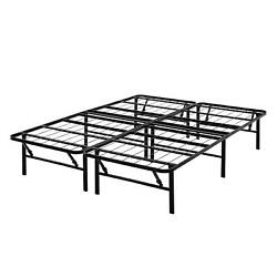 Mainstays 14 High Profile Foldable Steel Bed Frame, Powder-coated Steel, King