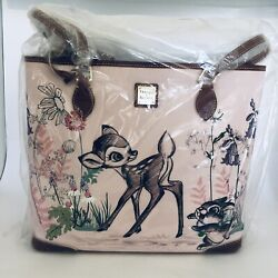 Dooney And Bourke Disney Bambi Large Shopper Tote Bag Thumper 75th Anniversary New