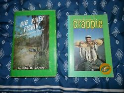 Lot Of 2 Fishing Books By Dan Gapen Big River Fishin-signed And Crappie