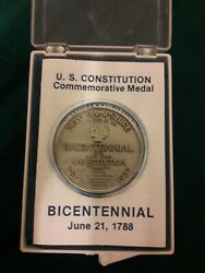 Vintage 1788-1987 Us Constitution Commemorative Medal New Hampshire Bicentennial