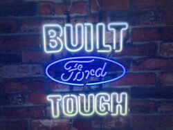 New Muscle Car Garage Open Auto Neon Light Sign 20x16 Beer Bar Real Glass Lamp