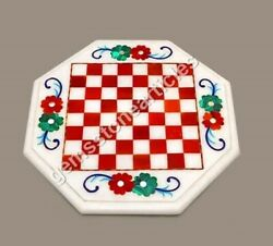 White Chess Board, Marble Chess Board, Stone Chess Board New Year Gifts Him Deco