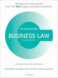 Business Law Concentrate New Marson James Principal Lecturer In Law Sheffield Ha