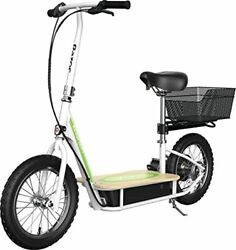 Razor Ecosmart Metro Electric Scooter Andndash Padded Seat Wide Bamboo Deck 16 Air