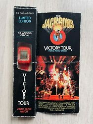 The Jacksons Official 1984 Victory Tour Watch With Original Box Michael Jackson