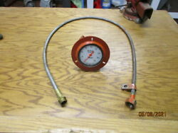 Older Reliant Firetruck Mechanical Tachometer And Cablevery Nice Condition