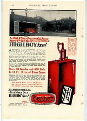 1928 Bennett Pumps Co., Muskegon, Mi Ad Indian Gas Station Pic - Visible Pumps