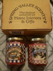 2home Interior Spring Valley Collection Mulberry And Baked Apple Pie Jar Candles
