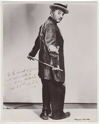 """Charles Chaplin 1889-1977 – Iconic Vintage Signed Photograph """"the Tramp"""""""