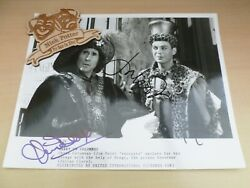 Jim Dale Julian Clary Carry On Columbus Hand Signed 10 X 8 Photograph