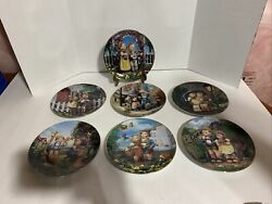 Lot Of 7 Collector Hummel Plates Individually Numbered- Preowned-displayed