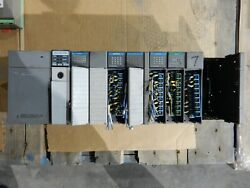 Used Allen Bradley Slc 500 10 Slot Rack With 1746-p2 Power Supply And 5/03 1747-