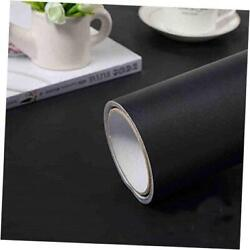 15.7quot; x118quot; Wallpaper Self Adhesive and Removable Peel and Stick Vinyl Black