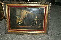 19th Century Dutch Before The Storm Artist Oil On Board