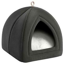 Cat Bed for Indoor Cats Cat Houses Small Dog Bed S 15x15x15 Dark Grey