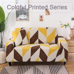 Colorful Print Sofa Cover Protect Stretch Able Magicsectional Sofa Couch Cover