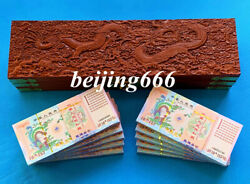 Chinese Dragon And Phoenix Quinquagintillion Dollars Banknotes With Wooden Box