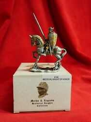 2006 Myths And Legends Pewter Figure6168 Medieval Knight Of Honormint With Box