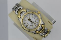 Tag Heuer Watch Men Womens Midsize Wg5220.bb0438 White Sel Gold Silver Automatic