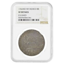 1766 Mexico Spanish Colony 8 Reales Charles Iii Silver Coin Ngc Xf Details