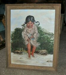 Large Powerful Lovely Young Native American Girl By Della Norman