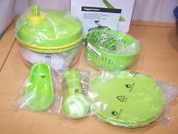 Tupperware Quick Chef Pro System Food Processor Chopper Blade Whisk Basket New