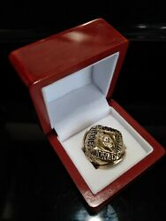 1957 Detroit Lions Ring And Wooden Display Box Nfl Super Bowl Championship