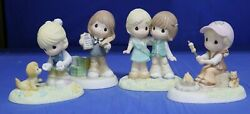 Girl Scout Precious Moments Figures Set Of Four 4 102009 102010 104029 104032
