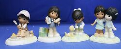 Girl Scout African American Precious Moments Figure Set Of 4