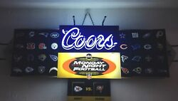 Coors Neon Beer Magnetic Sign Abc Monday Night Football Afc/nfc Vintage Rare