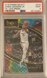 2018-19 Select Jaren Jackson Jr Courtside Tie-dye Prizm Rc Rookie 24/25 Psa 9