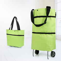Folding Shopping Pull Cart Trolley Bag With Wheels Shopping Bags Grocery Bags