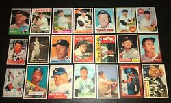 Mickey Mantle21 Card Reprint Set1951-1969every Base Card Made Toppsbowman