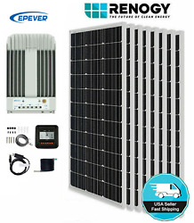 Renogy Solar Panels 800w 8x100w With Epever 40a Mppt Solar Charge Controller
