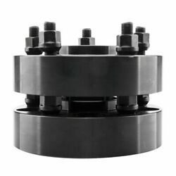 4 1.5 Wheel Spacers Adapters 5x5 Black 1/2 X 20 For Jeep Jk Wrangler Grand