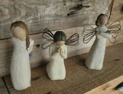 Willow Tree Angel Lot Of 3 Thank You Strength And Prayer 1999 2000 2002