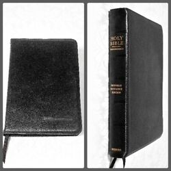 Vintage 1945 Oxford Scofield Reference Ed. Bible Rare Pin Seal, Leather Lined