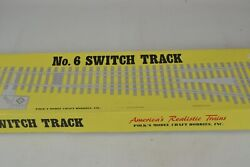 Aristocraft G Scale, No.6 Right Hand Stainless , Manual Switch Track, Unused-ob