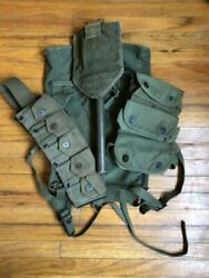Wwii Army Pack, Ammo Belt, Grenade Pouch And Free Entrenching Tool