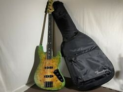 Bacchus Woodline Dx4 Ewc-gb 4 Strings Dot Inlay Electric Bass Guitar With Case