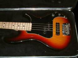 G And L Sb-2 Quality By Led 4 Strings Sunburst Electric Bass Guitar Made In Usa