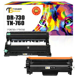 Tn760 Toner Dr730 Drum Compatible For Brother Hl-l2350dw L2370dw Mfc-l2710dw Lot